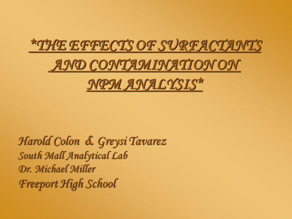 Harold Colon & Greysi Tavarez South Mall Analytical Lab Dr.