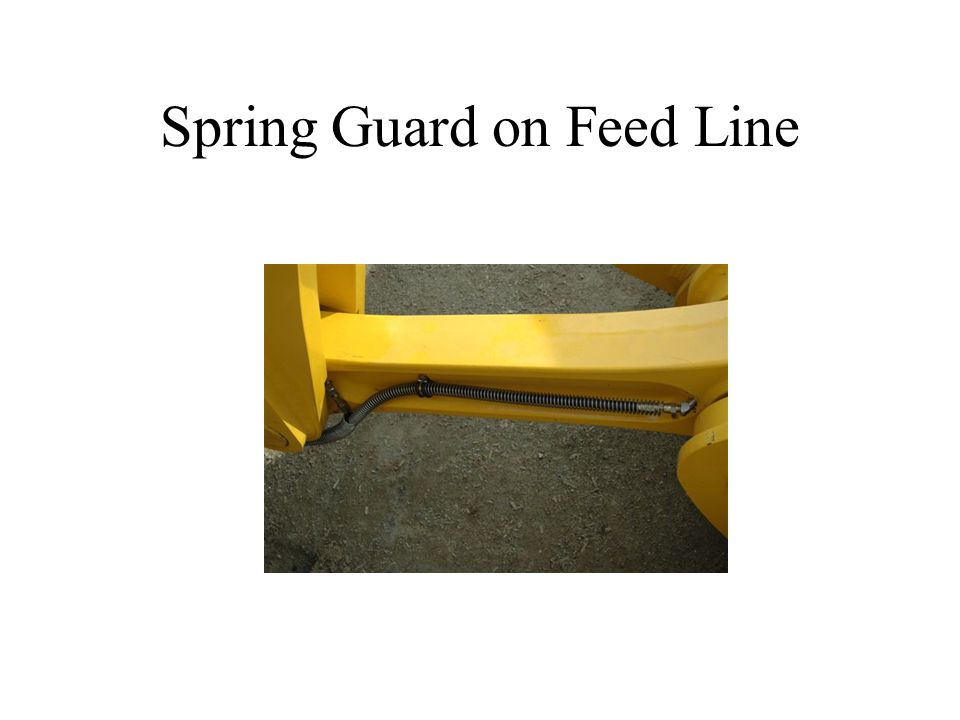 Spring Guard on Feed Line