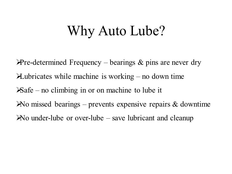 Why Auto Lube.