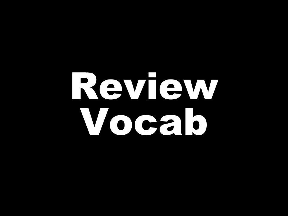 Review Vocab