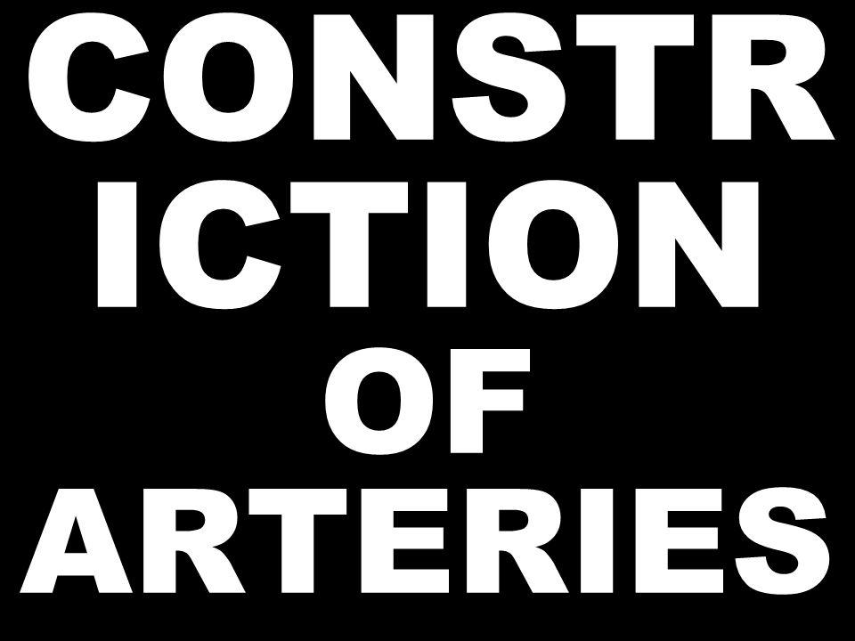 CONSTR ICTION OF ARTERIES