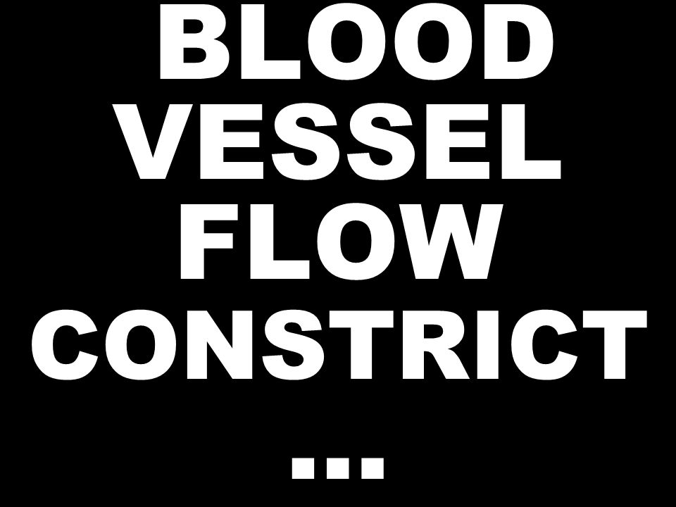 BLOOD VESSEL FLOW CONSTRICT …