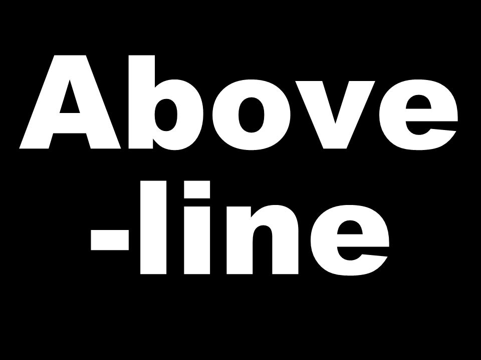 Above -line