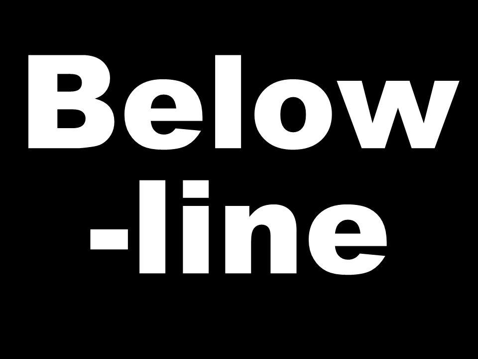 Below -line