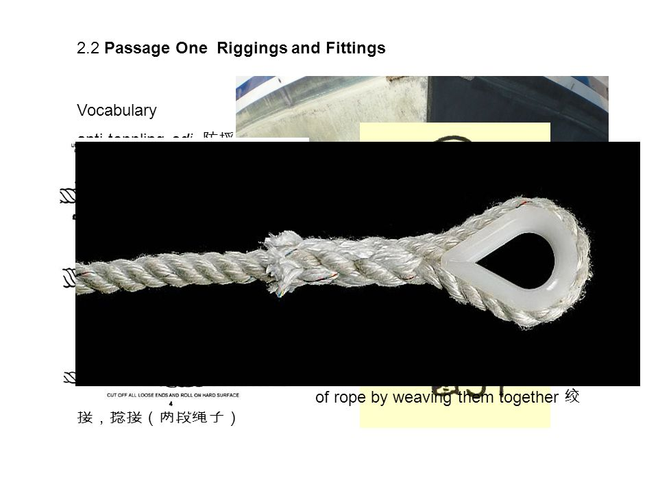2.2 Passage One Riggings and Fittings Vocabulary anti-toppling adj.