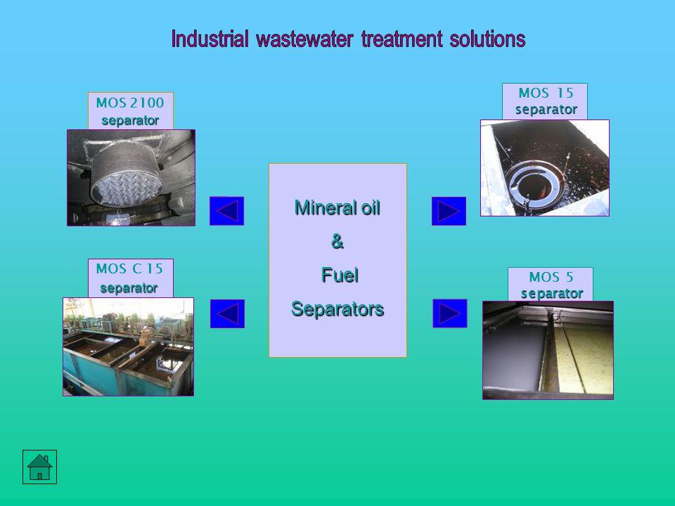 Mineral oil & Fuel FuelSeparators separator MOS 2100 separator separator MOS C 15 separator separator MOS 15 separator separator MOS 5 separator