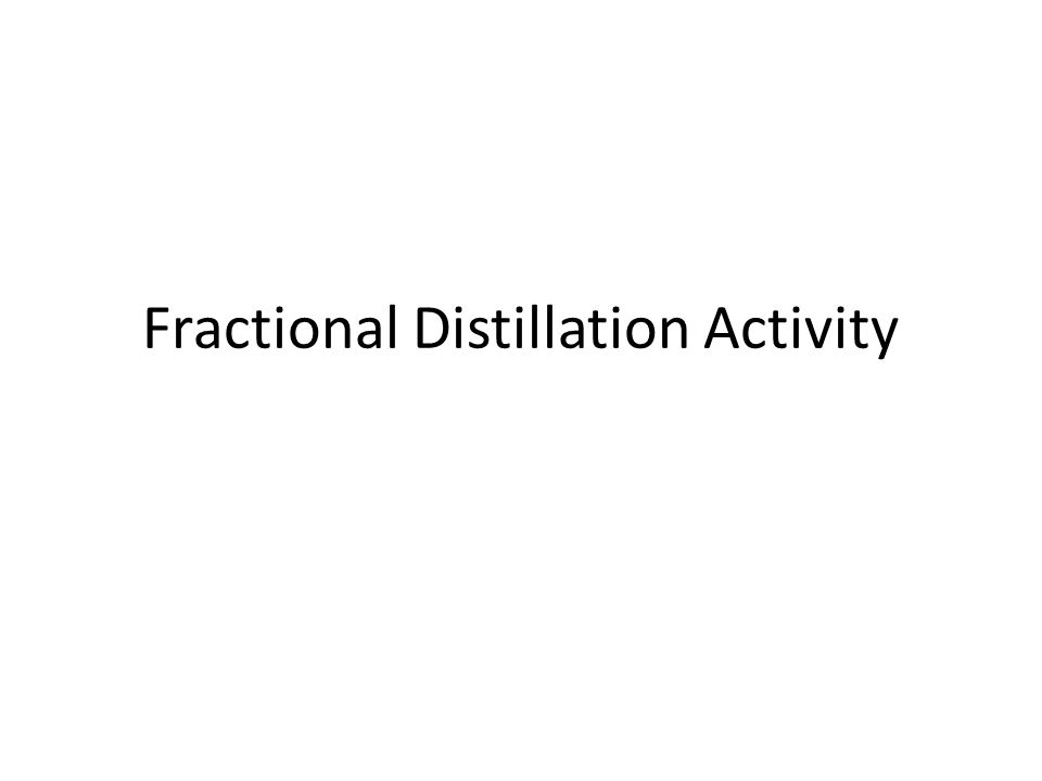 Fractional Distillation Activity