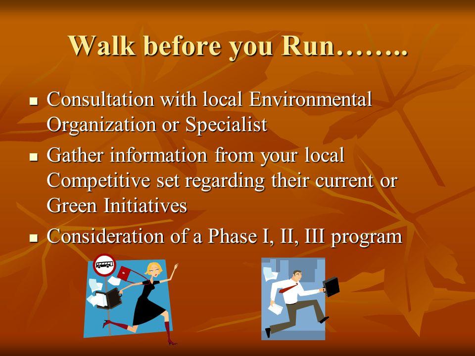 Walk before you Run……..