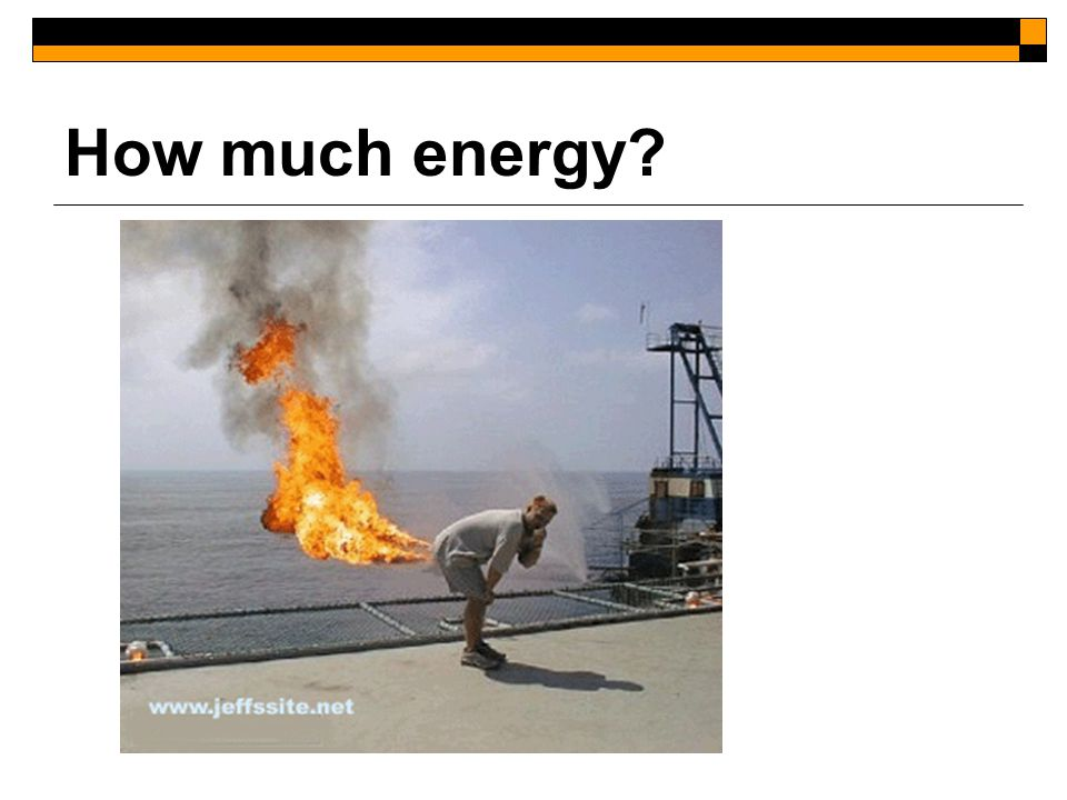 How much energy
