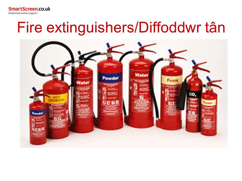 Fire extinguishers/Diffoddwr tân