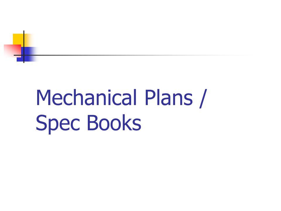 Mechanical Plans / Spec Books