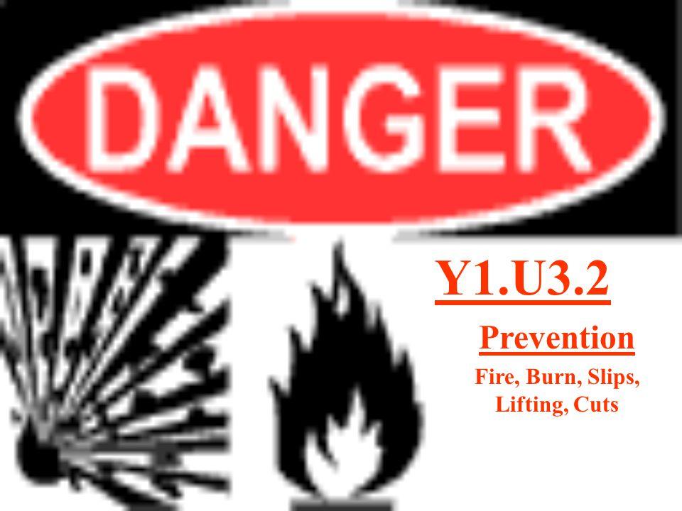 Y1.U3.2 Prevention Fire, Burn, Slips, Lifting, Cuts