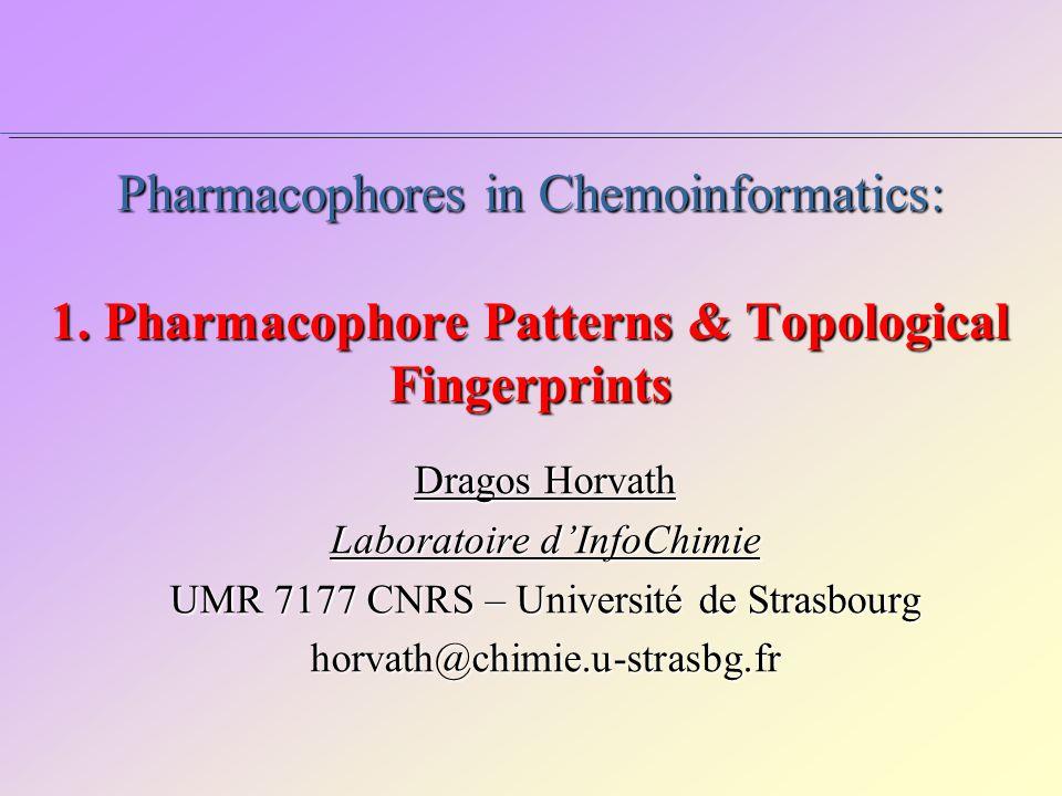 Pharmacophores in Chemoinformatics: 1.