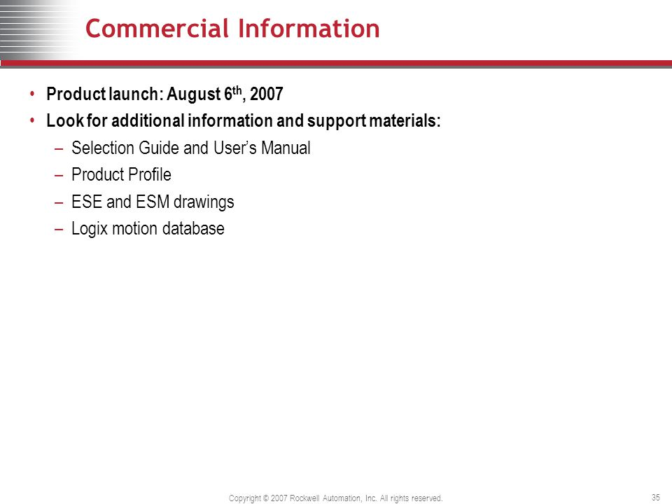 Copyright © 2007 Rockwell Automation, Inc. All rights reserved.