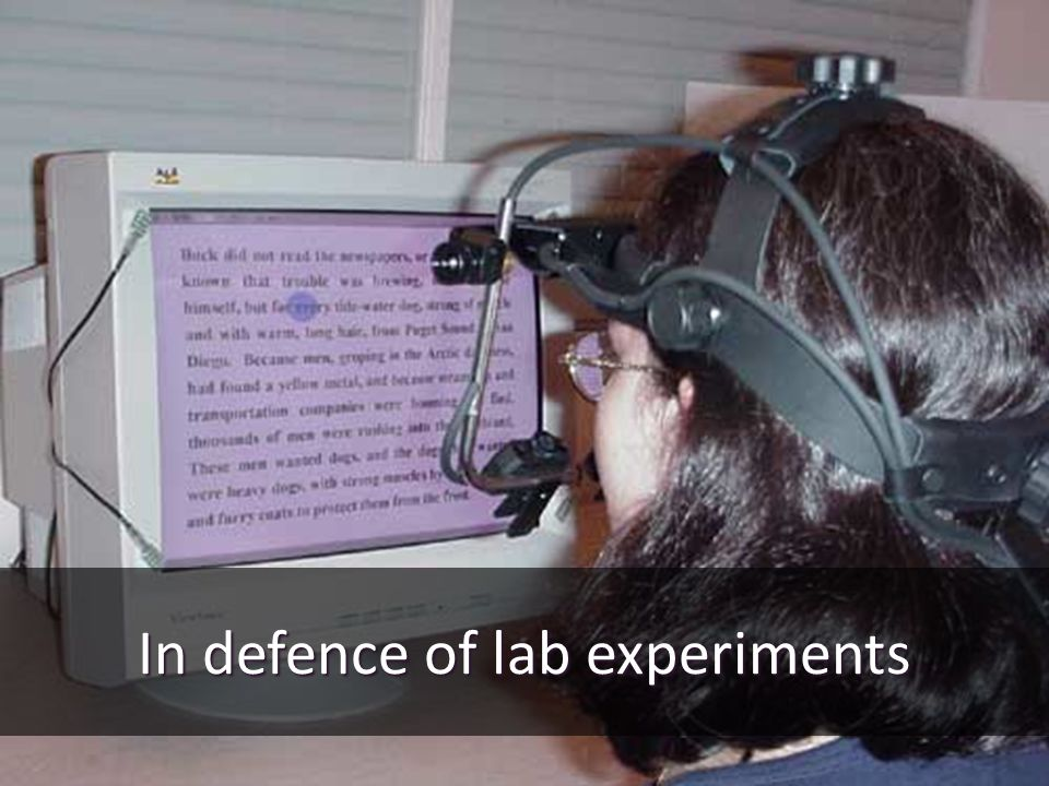 In defence of lab experiments