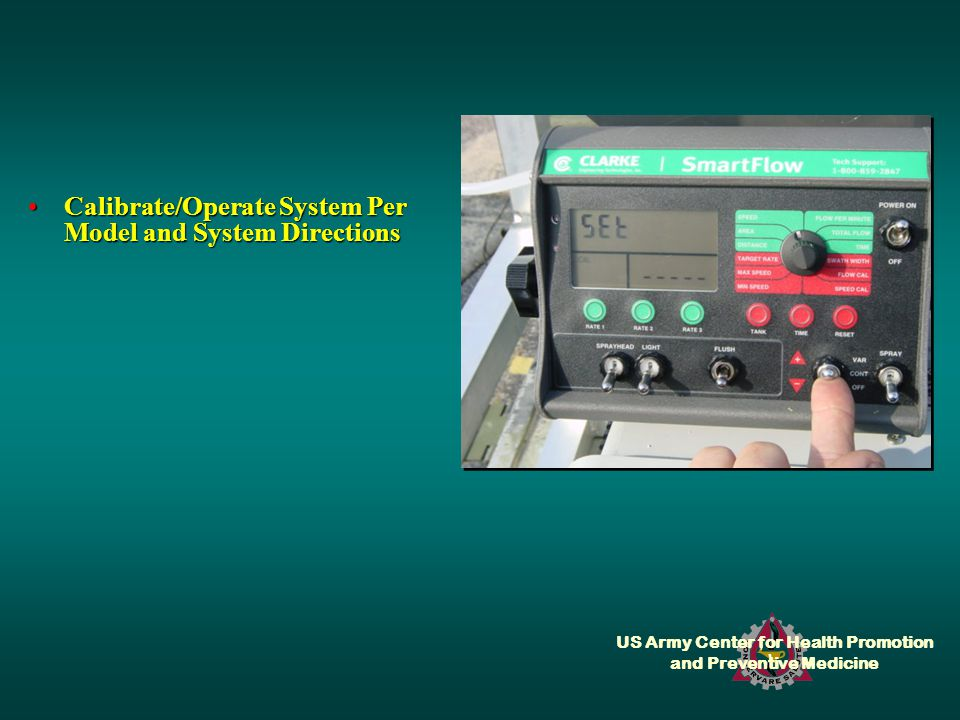 US Army Center for Health Promotion and Preventive Medicine Calibrate/Operate System Per Model and System DirectionsCalibrate/Operate System Per Model and System Directions