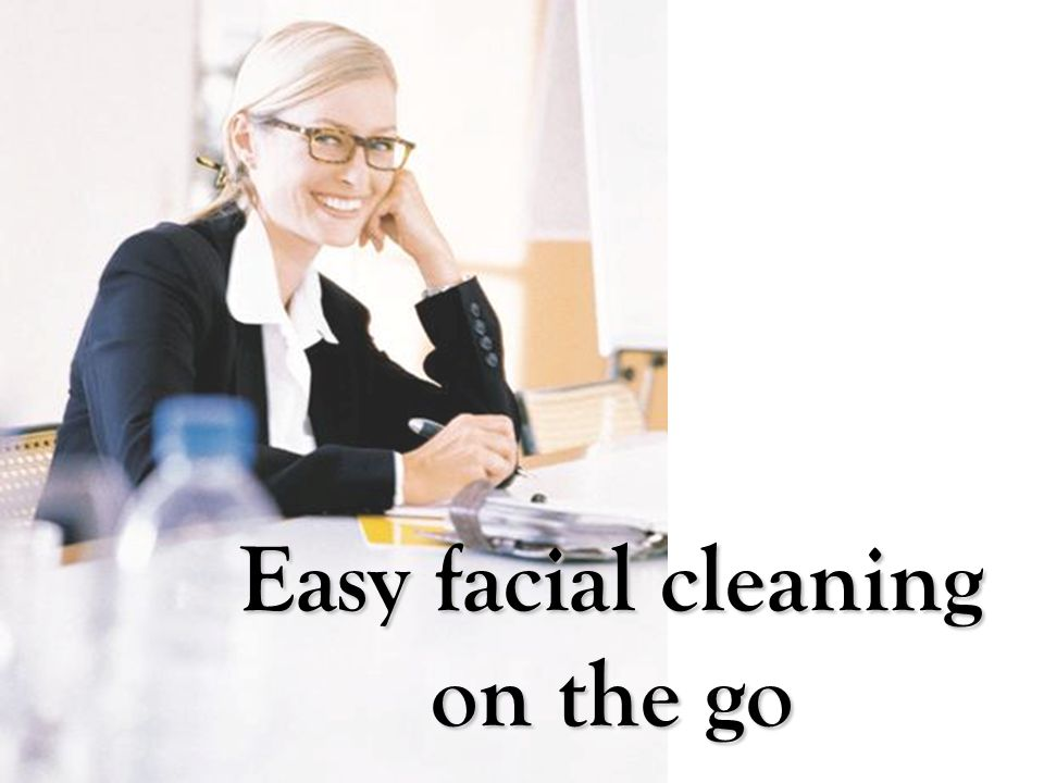 Easy facial cleaning on the go