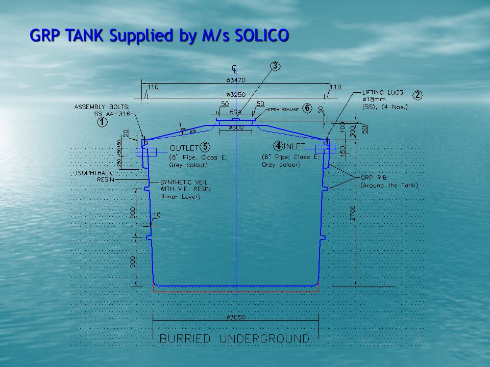 GRP TANK Supplied by M/s SOLICO
