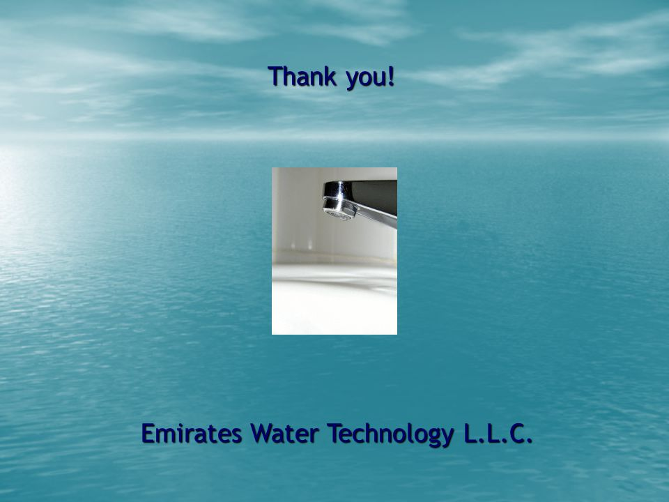 Emirates Water Technology L.L.C. Thank you!