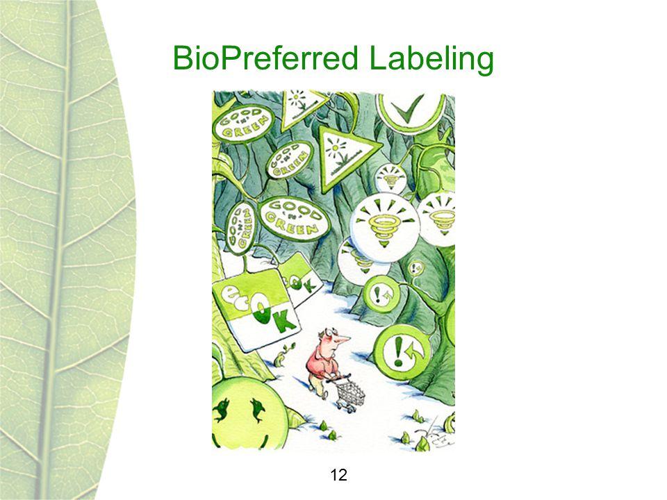BioPreferred Labeling 12