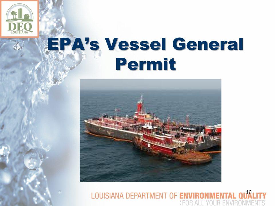 EPA's Vessel General Permit 46