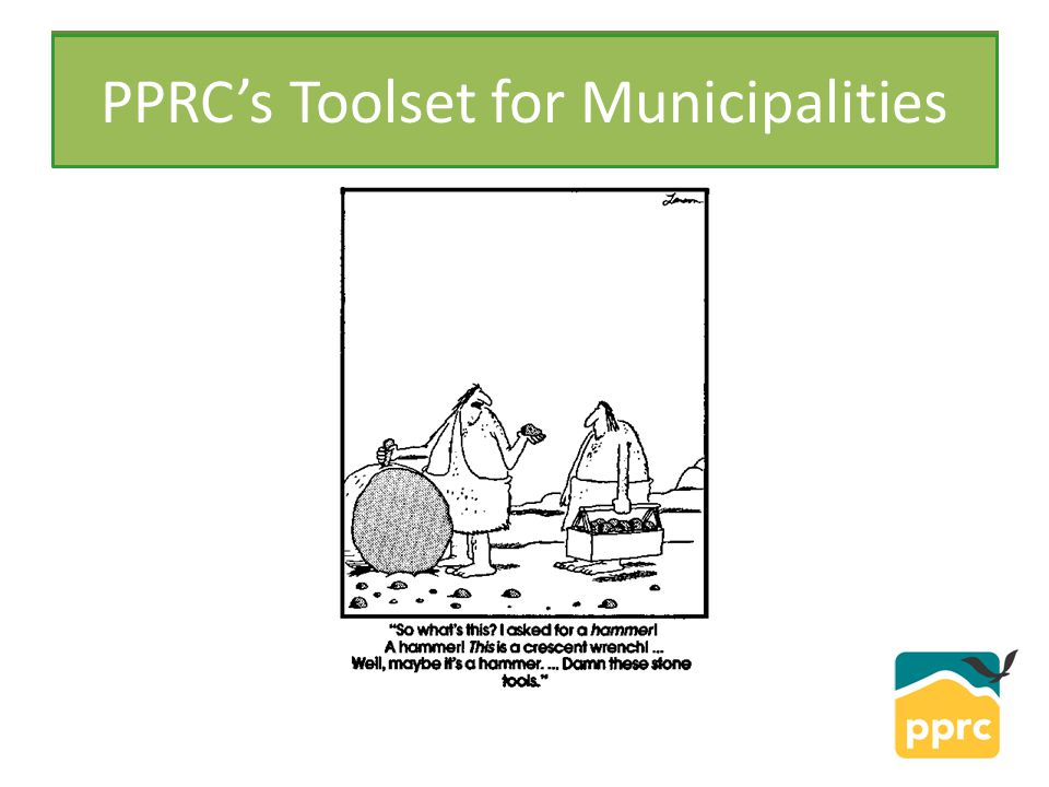 PPRC PPRC's Toolset for Municipalities