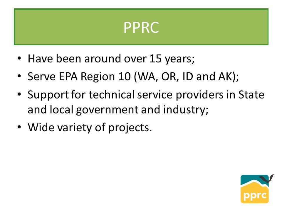 PPRC is one of 10 Centers in each EPA Region