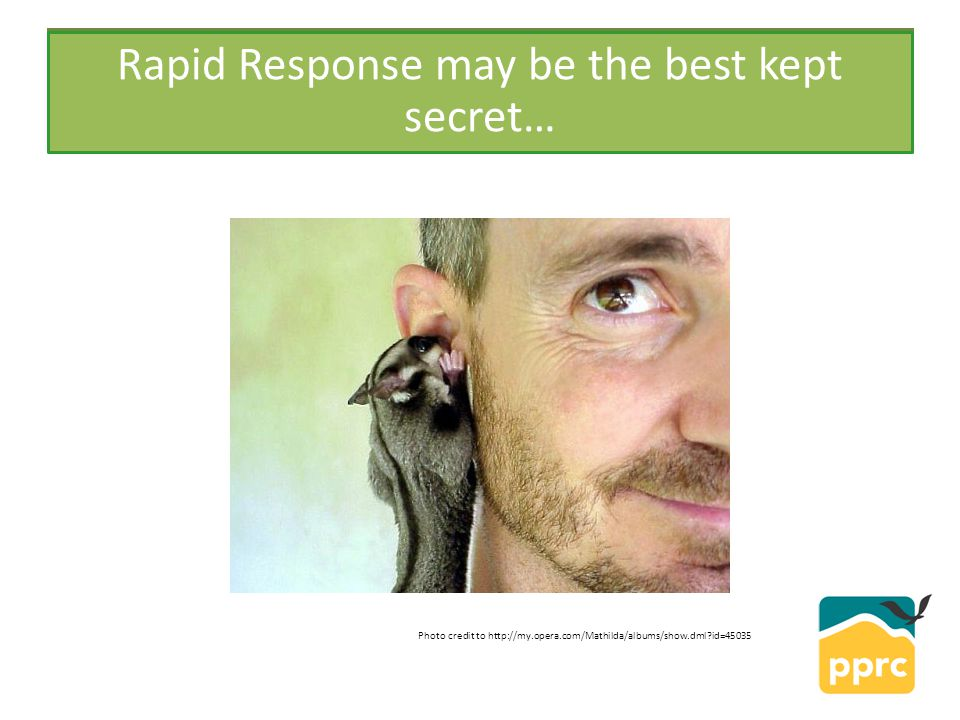 PPRC Rapid Response may be the best kept secret… Photo credit to http://my.opera.com/Mathilda/albums/show.dml id=45035