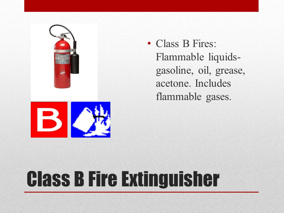 Class A Fire Extinguisher Class A fires include fuels such as wood, paper, plastic, rubber, and cloth Class A Fire Extinguishers are commonly called the water can or the all purpose water can. These extinguishers are usually filled with 2.5 gallons of water.