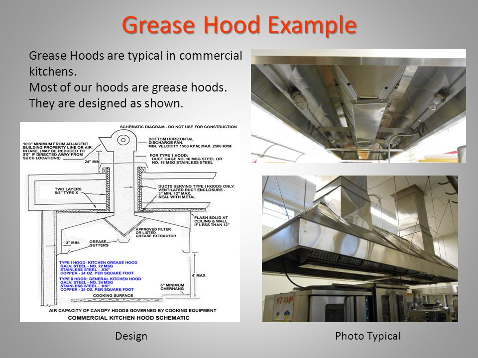 Hoods with Fire Suppression