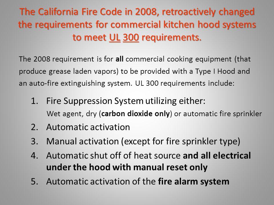 Why do we need to I.D. UL 300 Hoods. o Why did UL 300 became necessary.