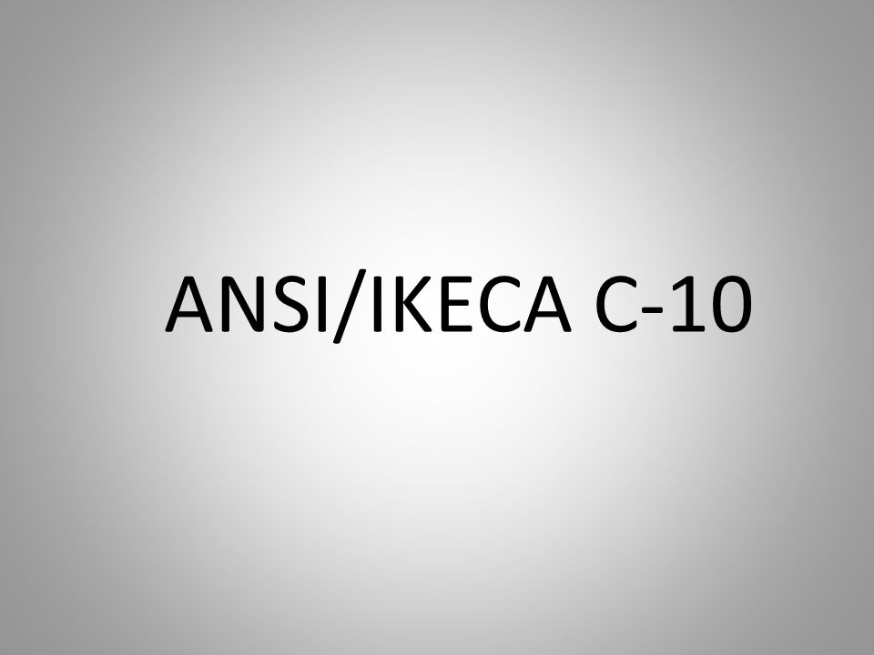 ANSI/IKECA C-10