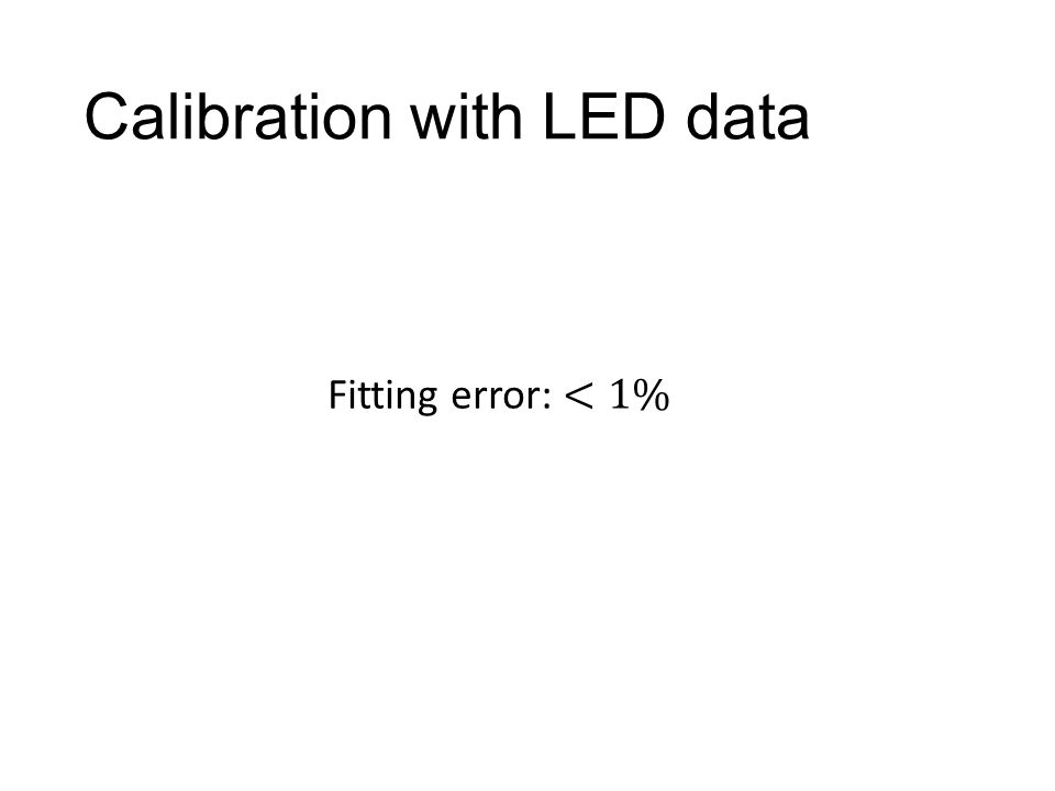 Calibration with LED data