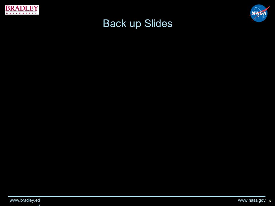www.nasa.gov www.bradley.ed u Back up Slides 42