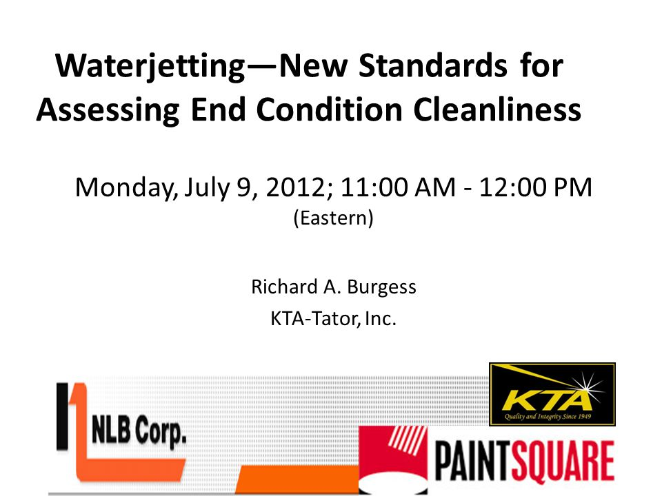 This presentation will address the new standards, and the value of experience and training in assessing end conditions and precautions when specifying cleaning pressures.