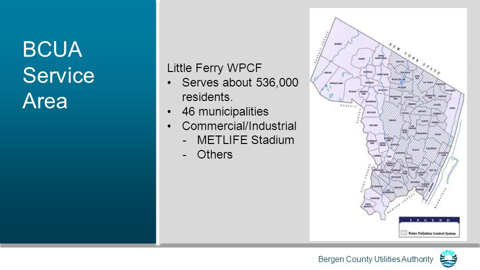 Bergen County Utilities Authority Other Power Supply Mitigation Protect key power supply assets from flooding at the design flood elevation.