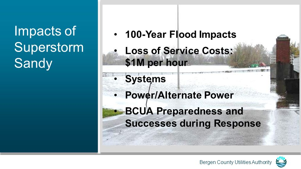 Bergen County Utilities Authority Black Start Capabilities Currently, the BCUA has three kerosene- fired back-up turbines to operate the plant in case of a power outage.