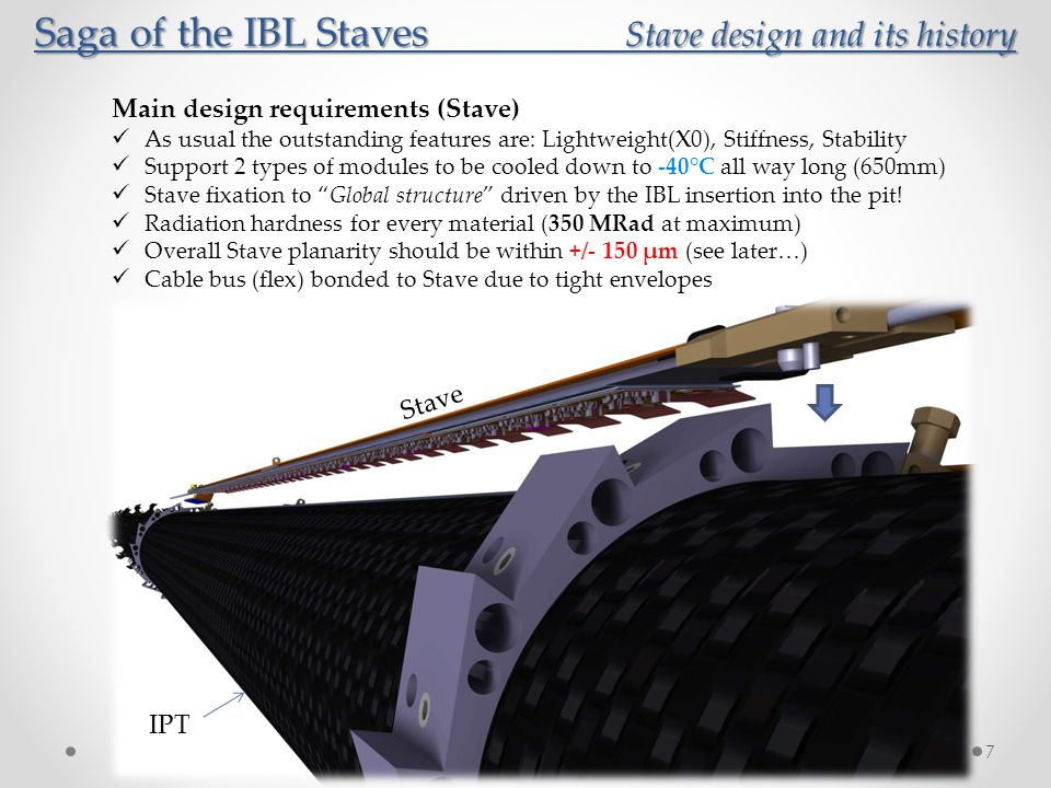 Saga of the IBL Staves Stave design and its history Saga of the IBL Staves Stave design and its history 8 IBL Stave evolution over the last 4 years (coordinated by CPPM Marseille) Based on the PIXEL experience, several concepts have been studied… … on CFRP type for omega shape (M60 vs K13C), carbon foam (Poco vs K9), cooling pipe (CFRP vs Titanium) and the stave shape.