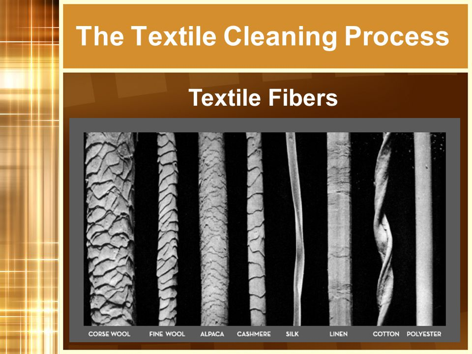 The Textile Cleaning Process Textile Fibers