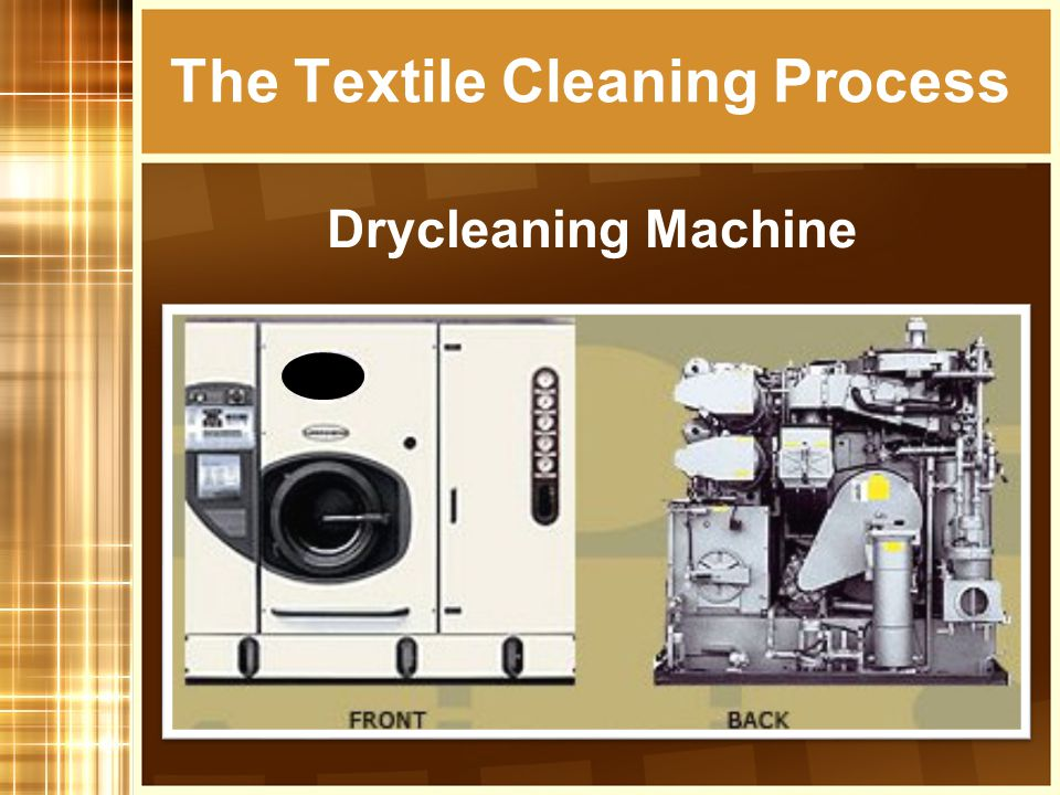 The Textile Cleaning Process Wetcleaning Machine and Dryer