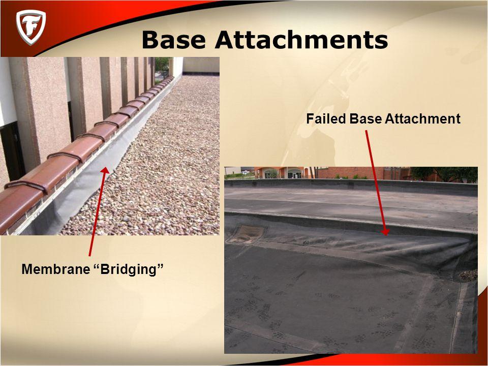 "Base Attachments Membrane ""Bridging"" Failed Base Attachment"