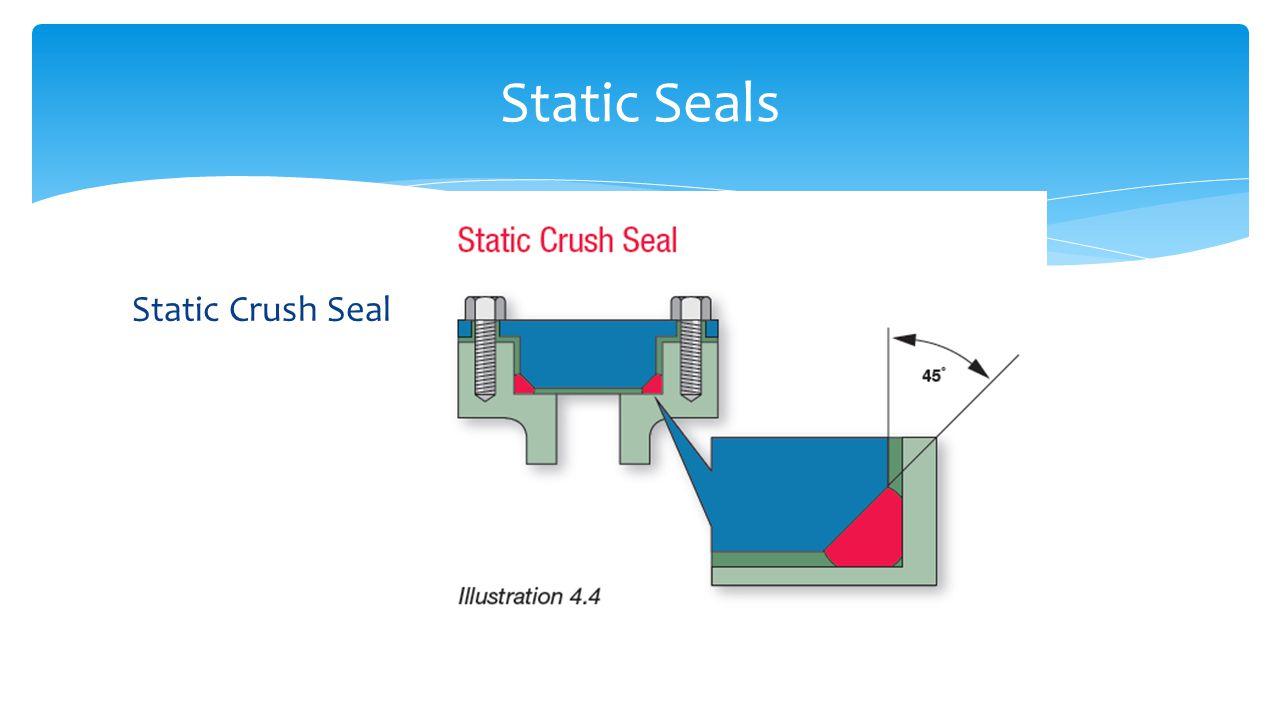 Static Crush Seal Static Seals