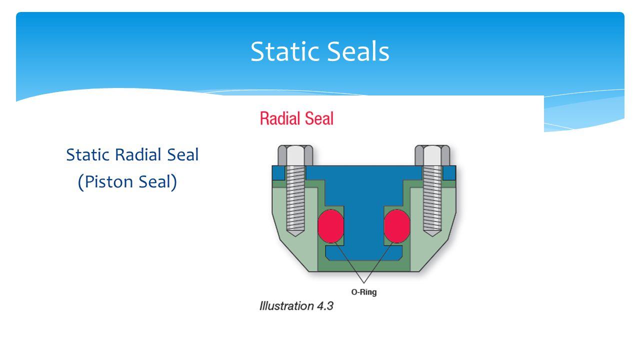 Static Radial Seal (Piston Seal) Static Seals