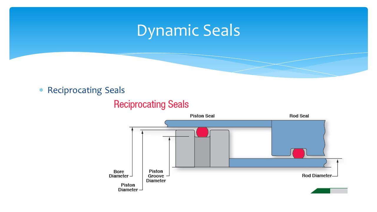  Reciprocating Seals Dynamic Seals