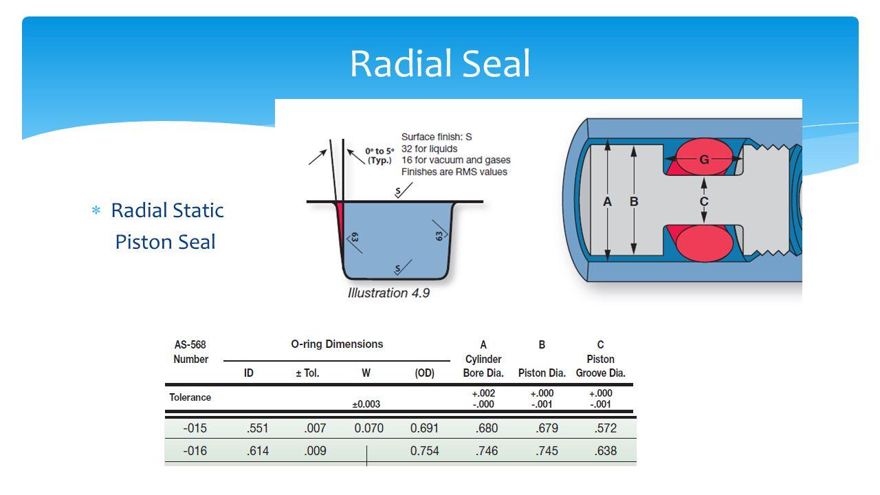  Radial Static Piston Seal Radial Seal