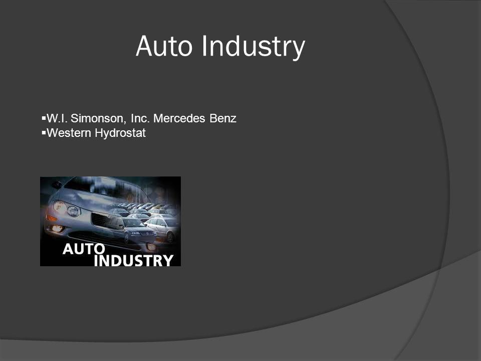 Auto Industry  W.I. Simonson, Inc. Mercedes Benz  Western Hydrostat