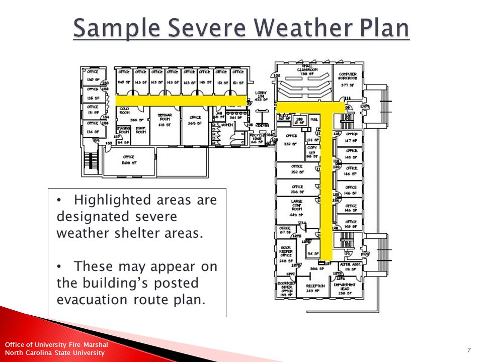 8 Office of University Fire Marshal North Carolina State University  How do you get updated information while taking refuge.