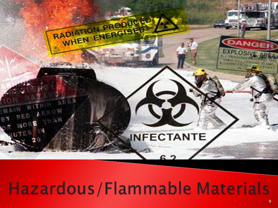  Class A ◦ Ordinary combustibles (wood, paper, cloth, trash, plastics, etc.)  Class B ◦ Flammable & combustible liquids (gasoline, diesel fuel, alcohols, tars, etc.) ◦ Flammable gases (propane, butane) ◦ Class B fires do not include fires involving cooking oils and grease.