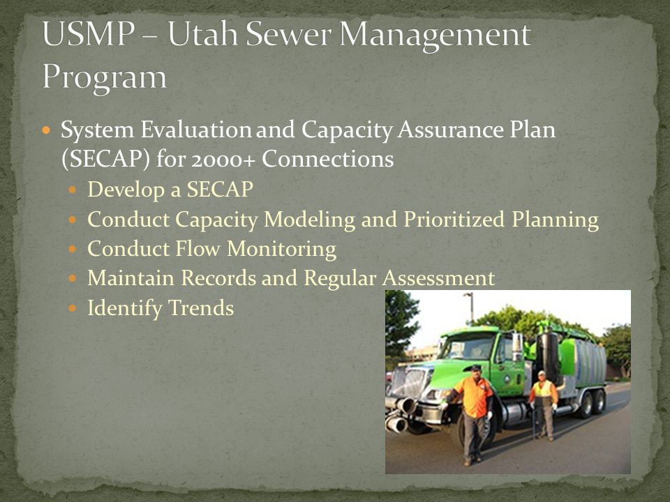 System Evaluation and Capacity Assurance Plan (SECAP) for 2000+ Connections Develop a SECAP Conduct Capacity Modeling and Prioritized Planning Conduct