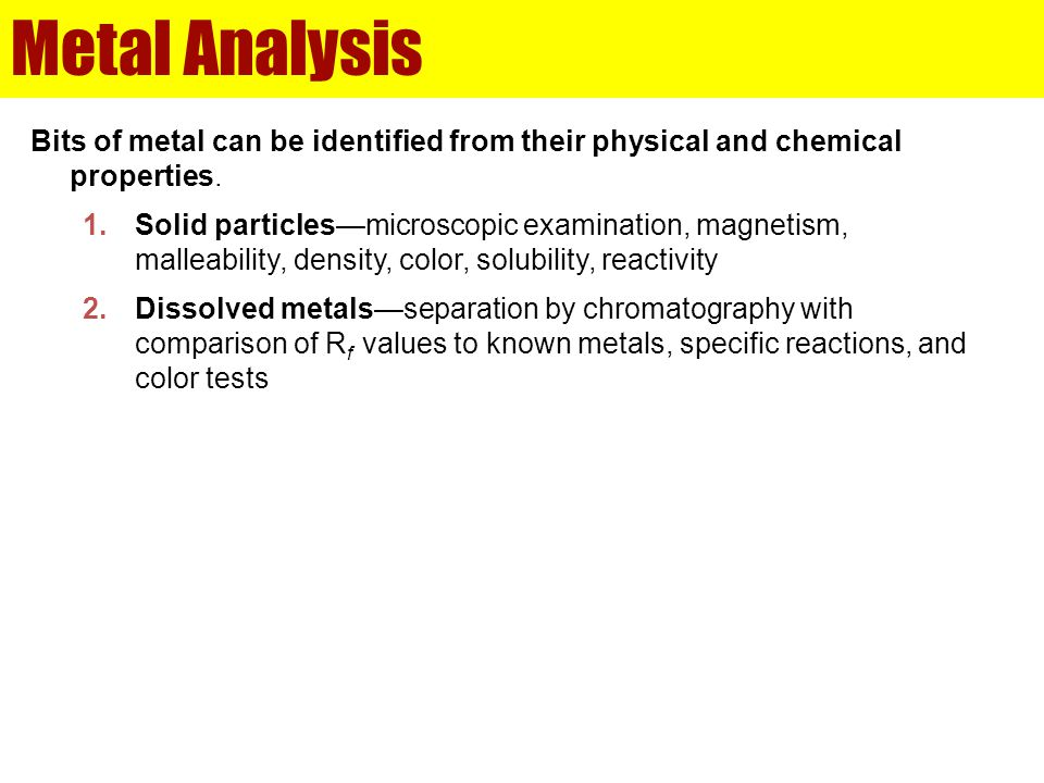 Product Liability Solid metal particles are found in a loaf of bread.
